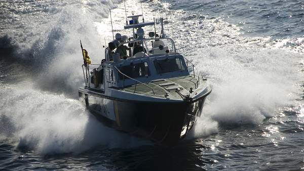 Imagen de la patrullera de la Guardia Civil que ha localizado al senderista