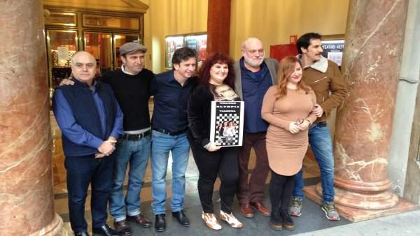 Los actores de 'El Intercambio', en el Olympia