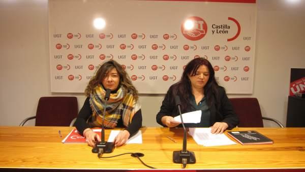 Sandra Vega (i) y Azucena Pérez