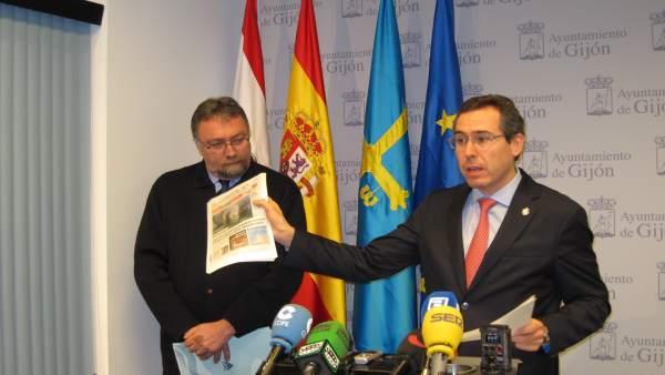 Oblanca (izquierda) y Couto, en rueda de prensa.