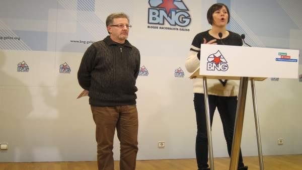 Suso Seixo (CIG) y Ana Pontón (BNG)