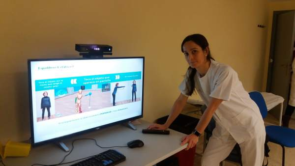 La fisioterapeuta que lleva la Rehabilitación Virtual en el hospital del Rosell
