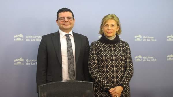Domínguez y Lema, en la rueda de prensa