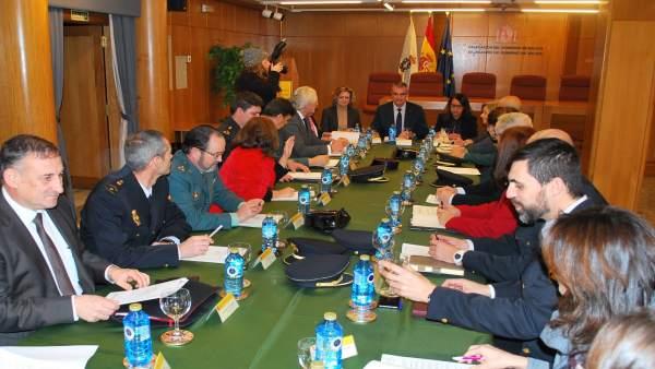 Reunión del Plan de convivencia y seguridad escolar en Galicia.