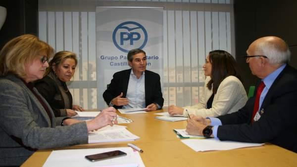 Sanz Vitorio, reunido con representantes del Cermi.
