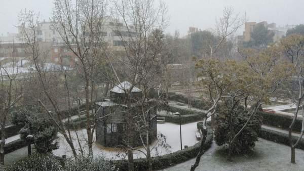Nieve en Almansa