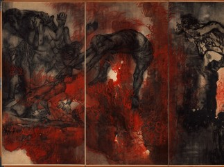 Maruki Iri & Toshi - Fire (Panel II) from Hiroshima Panels (series of 15 panels), 1950-82
