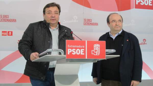 Fernández Vara y Miquel Iceta