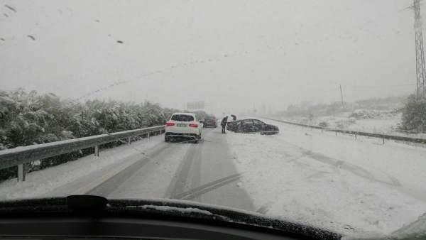 Imagen de la carretera RM-15, en el trayecto entre Mula y Caravaca
