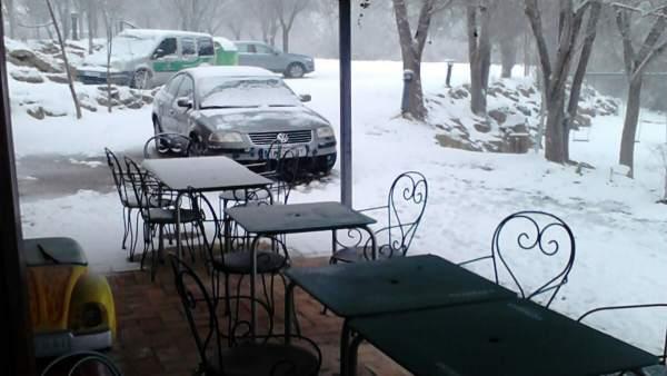Imagen de la nieve acumulada en Bullas