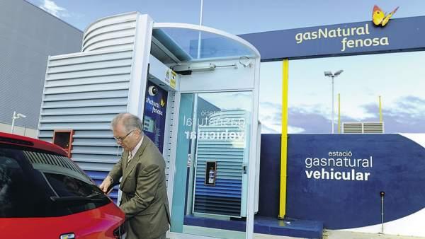 Estación de repostaje de gas natural