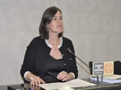 La diputada del PAR en las Cortes de Aragón, Elena Allué