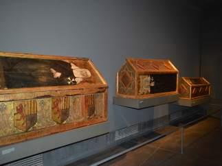Sepulcros del Museu de Lleida que reclama el Monasterio de Sijena