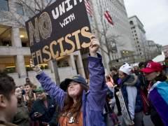 Grupos de manifestantes intentan bloquear el acceso a la investidura de Trump