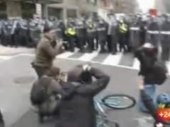 Cien detenidos en las protestas contra Trump