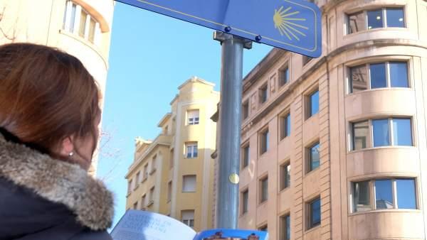 Camino de Santiago a su paso por Santander