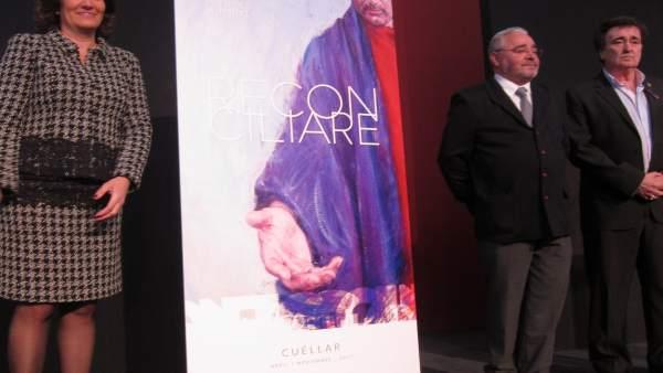 Inauguración del cartel de esta edición durante Intur