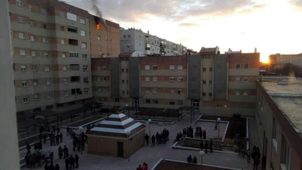 Incendio en una vivienda de Sevilla Este
