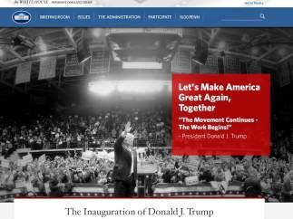 página web oficial de la Casa Blanca