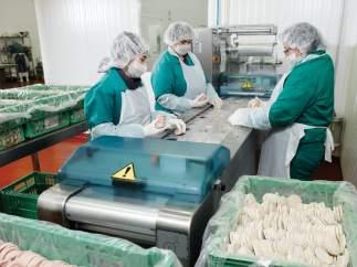 Trabajadores en una foto de archivo