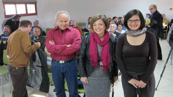 Ambrosio (centro) en la presentación de la jornada