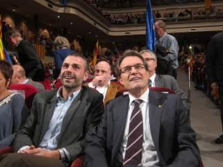 Santi Vila y Artur Mas en Figueres (Girona)