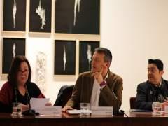 Aguarod, Rivarés y Orús han presentado la exposición hoy en La Lonja