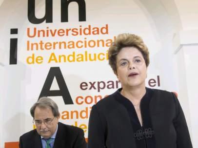 Dilma Rousseff, en Sevilla