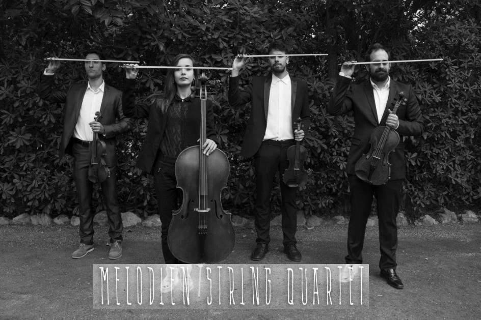 El grupo 39 melodien string quartet 39 ofrece un concierto for Residencia universitaria hernan cortes