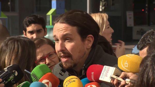Pablo Iglesias responde a la prensa