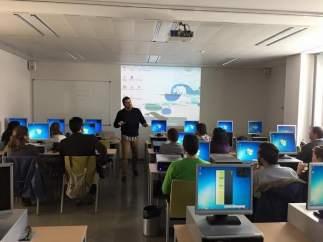 Un grupo de alumnos durante la formación