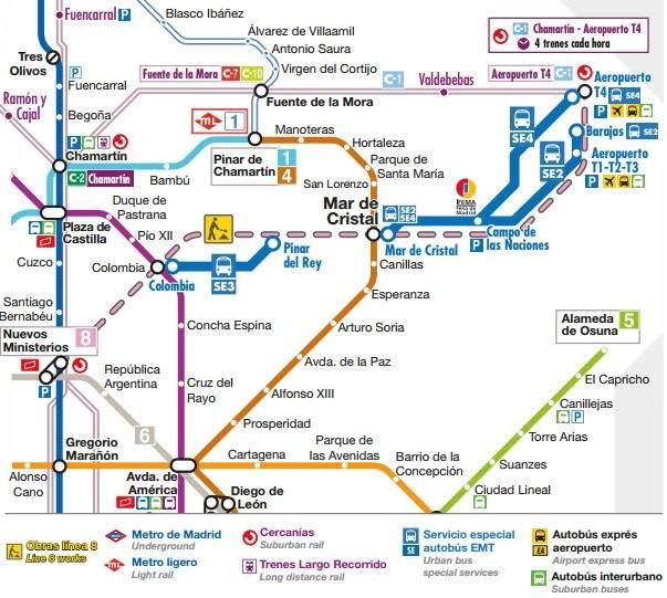 Comienza el cierre de la lnea 8 de Metro de Madrid estas son las
