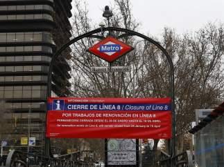Cerrada por obras la línea 8 de Metro de Madrid