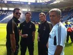 Mourinho, Arbeloa, Xabi Alonso y Casillas