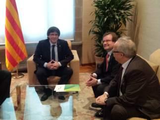 Reunión del president Puigdemont con representantes de La Tercera Vía.