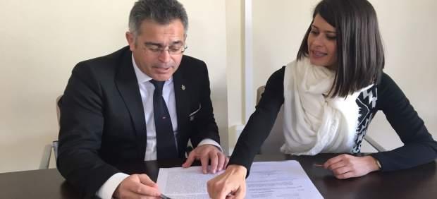 La diputada de Deportes y el alcalde de Olula ultiman los detalles de la prueba.
