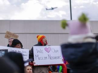 Protestas contra el veto migratorio de Donald Trump