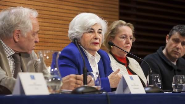 Representantes del Comisionado de Memoria Histórica