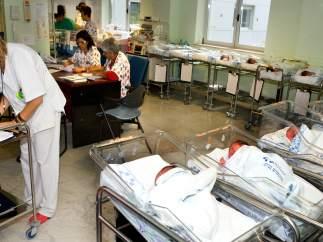 Recién nacidos en un centro hospitalario canario