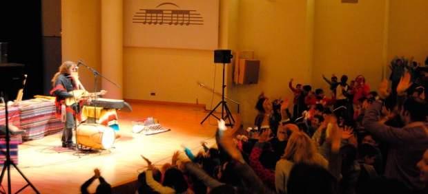 Una actuación de Pablo Nahual
