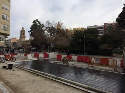 Obras en el anillo ciclista de Valencia