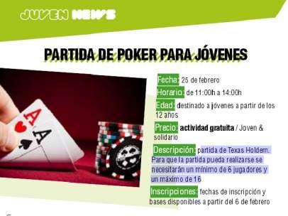 Folleto póker Boadilla