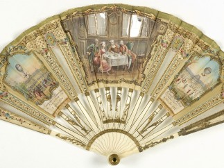 Fan, Duvelleroy Company in about 1900