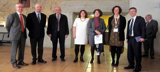 Autoridades en la inauguración del XII Congreso de la AEEE en Salamanca