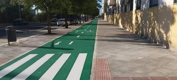 Nuevo tramo de carril bici.