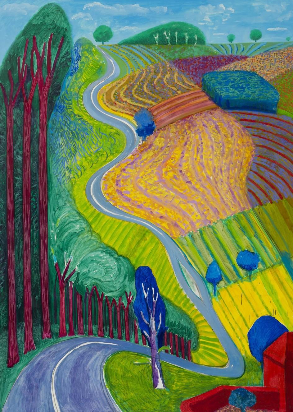 Foto David Hockney Going Up Garrowby Hill 2000 David