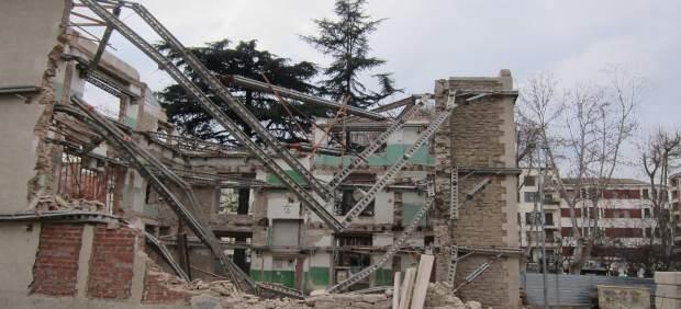 Derrumbe parcial 'Casa del Cuento'