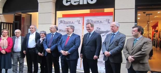 Juan María Aburto y Bingen Zupiria en el homenaje al periodico Eguna