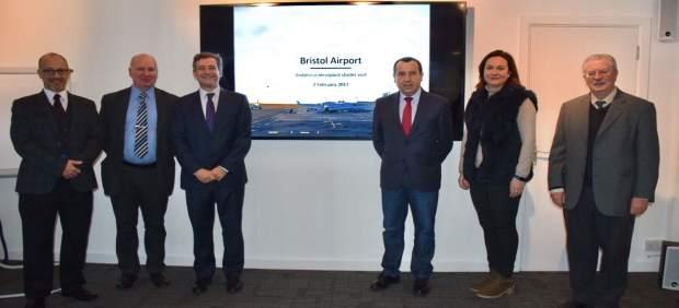 Delegación malagueña en Bristol Reino Unido Cluster aeronáutica