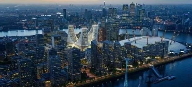 Calatrava projecta a Londres una plaça coberta de 24 metros amb galeries de cristall i tres torres d'oficines